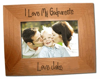 GodParents Wood Picture Frame