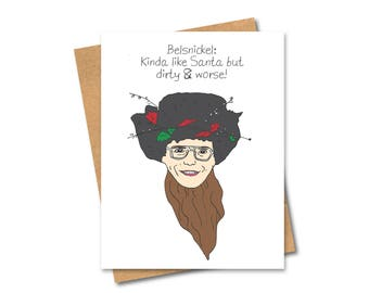 belsnickel dwight christmas card santa the office - The Office Dwight Christmas