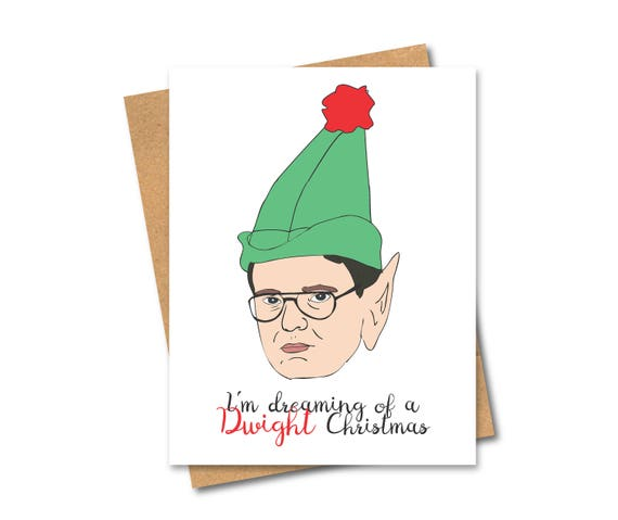 Dwight Christmas.Dwight Christmas Card Elf Holiday