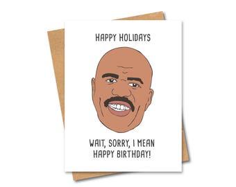 Funny Birthday Steve Harvey Card