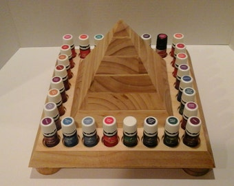 Unique Essential Oil Display - Elevated PYRAMID for Young Living or doTerra Oils