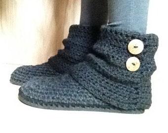 PDF instant download crochet pattern women slippers with flip flops soles