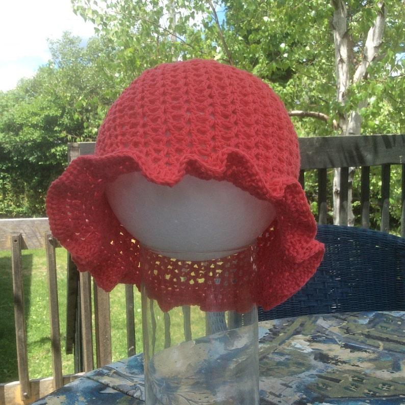 396a63a3ec4 BOB Patron crochet PDF chapeau de soleil au crochet pour bébé