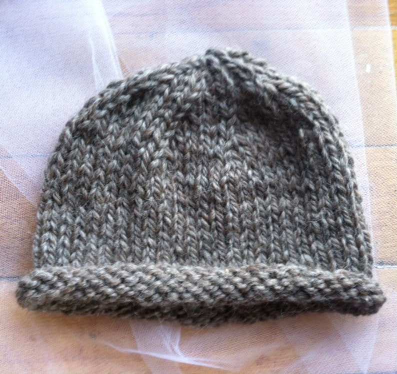 76b4f3613c6 Roll-Brim Baby Hat Pattern PDF Download