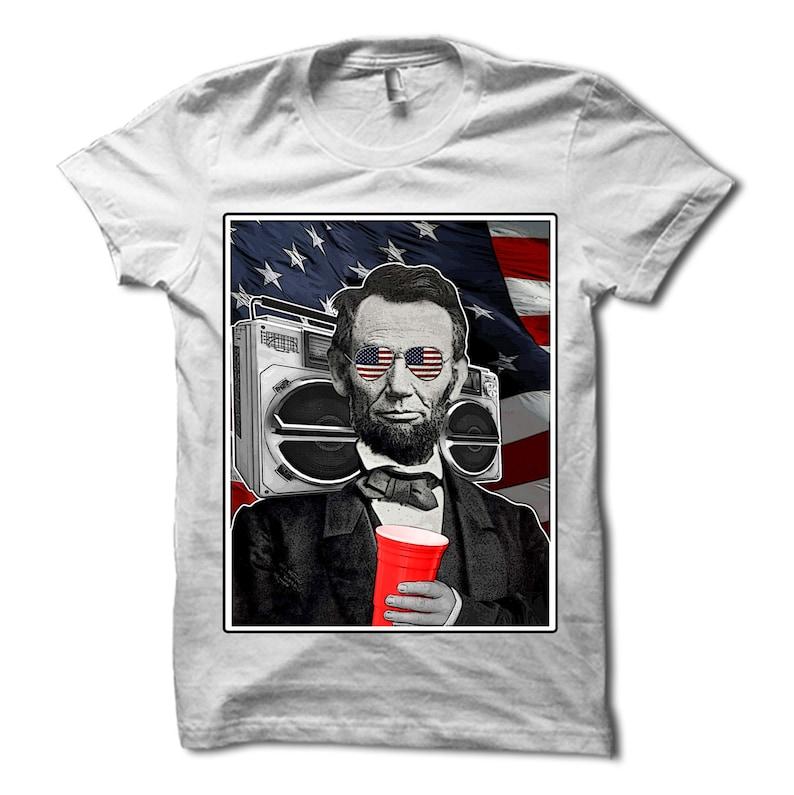 b8e138b8 Abroham Lincoln Shirt Funny Abe Lincoln T-Shirt 4th of | Etsy