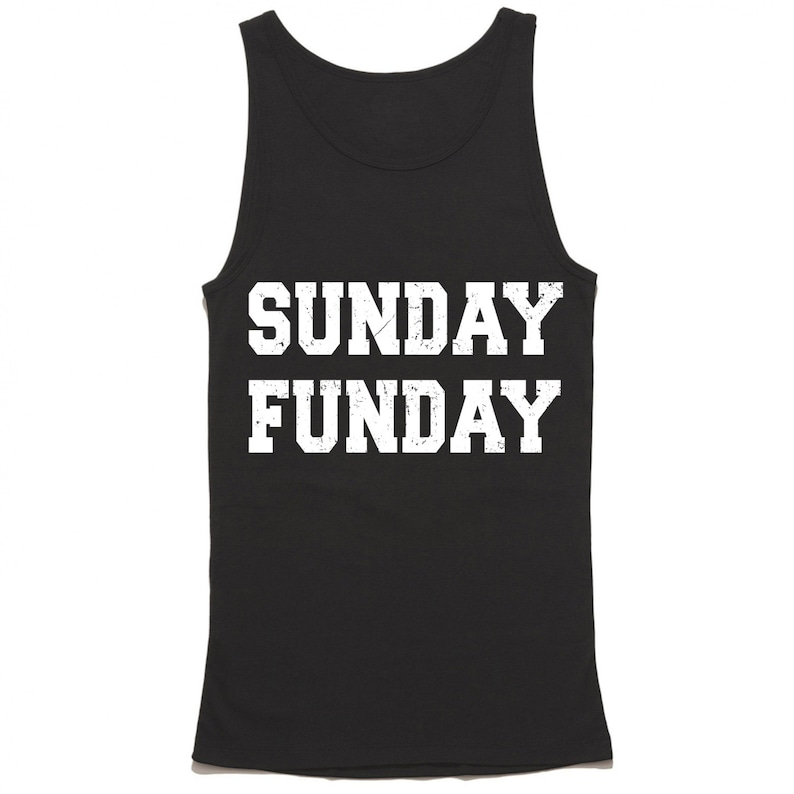 Sunday Funday Tank Top Funny Brunch Tank Fun Champagne Top image 0