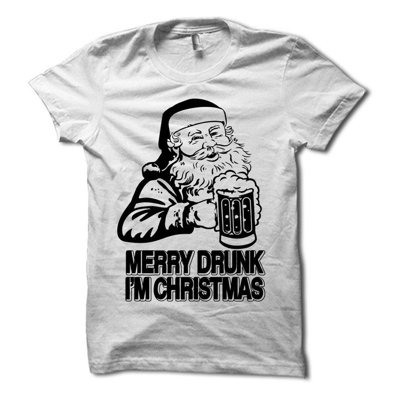 fb5fb1920e Merry Drunk Im Christmas Shirt Funny Christmas Party T-Shirt | Etsy