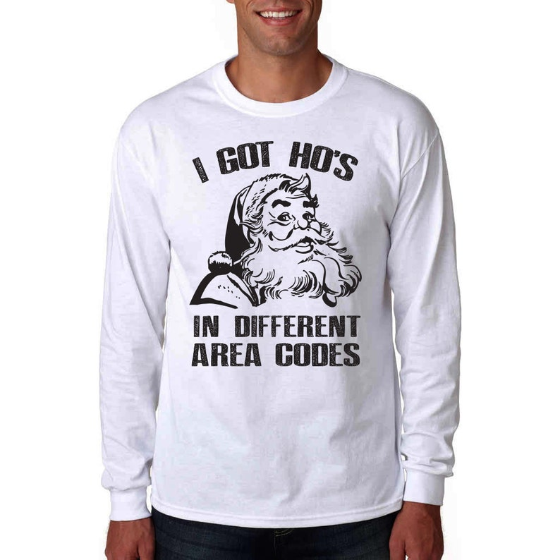 062205a1f8e I Got Hos In Different Area Codes Long Sleeve Shirt Funny