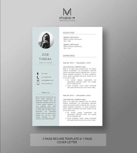 Microsoft Word Resume Cover Letter Template from i.etsystatic.com