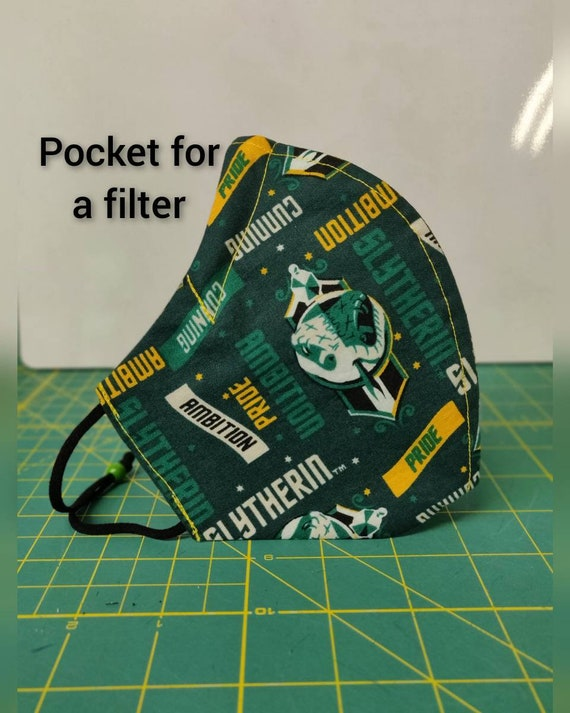 Face masks with Filter Pockets made with licensed Harry Potter fabric