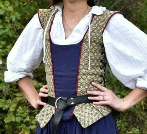 Renaissance Middle Class Bodice side lacing SCA LARP Cosplay costume - Made to Order