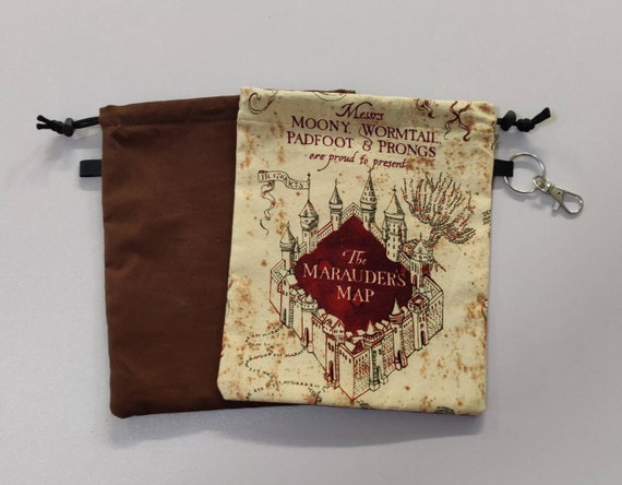 Face Masks Storage bags made with licensed Harry Potter fabric drawstring multi pockets customizable personalize it
