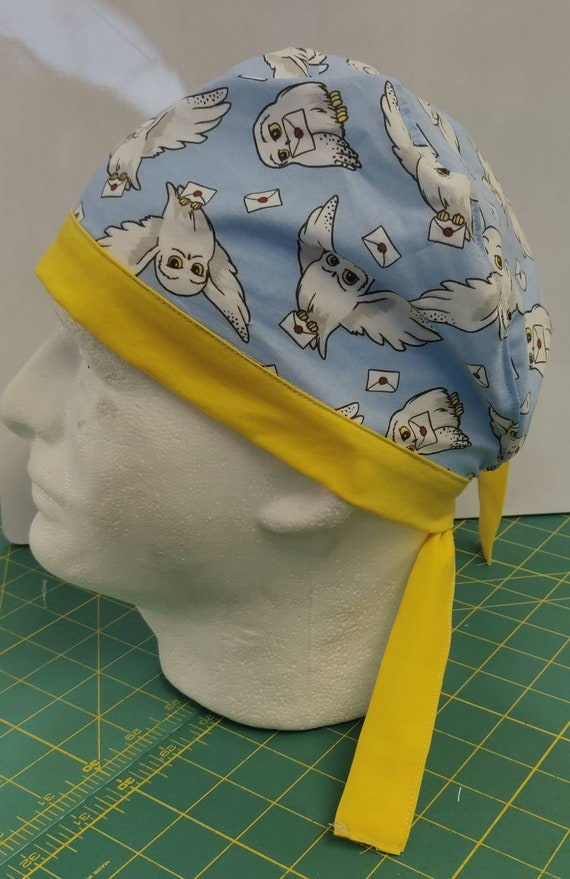 Surgical Scrub Caps made with licensed Harry Potter fabric 100% cotton