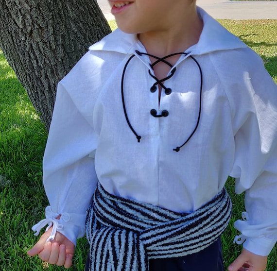 Pirate shirt kids boys girls cosplay Renaissance SCA LARP Steampunk