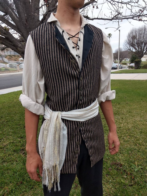 Pirate Vest men's cosplay Renaissance Steampunk SCA LARP Colonial