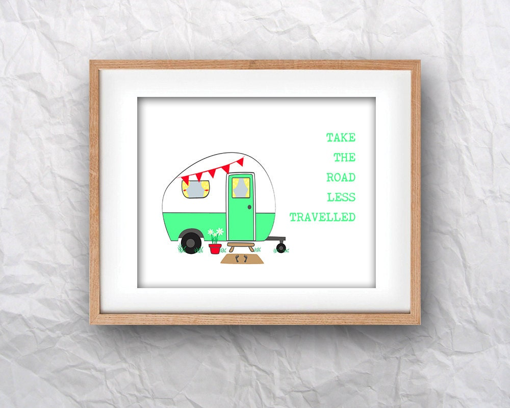 Christmas Grinch Quote 8 X 10 Digital Print Instant By: Vintage Caravan Printable Wall Art Take The Road Less