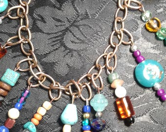 Gypsy Colorful Charm Bracelet