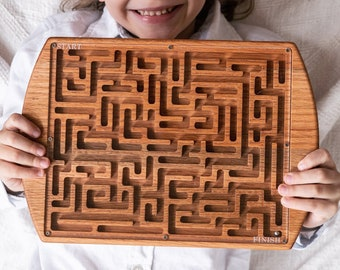 Wood Board Game, Travel Game, Maze Game, Kids Toy, Lobby Toy, Waiting Room, Classroom Game, Teacher Gift, ADD Game, Wood Board game