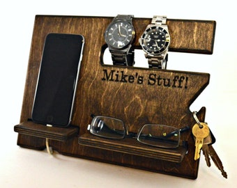 Officer Gifts Mens Birthday Gift For Him Husband Personalized Docking Station