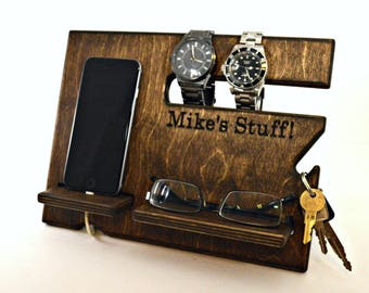 Desk Organizer, Organizer for Men, Men Organizer, Desk Organization, Mens Desk, Men Wood Organizer, Men Desk Organizer