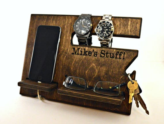 Custom Wood Docking Station from Drapela Woodworks