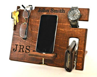 Mens Gift, Boyfriend Gift, Anniversary Gift, Men Anniversary Gift, Men Gift, Docking Station, Phone Dock Station