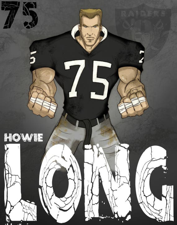 Howie Long Poster Etsy