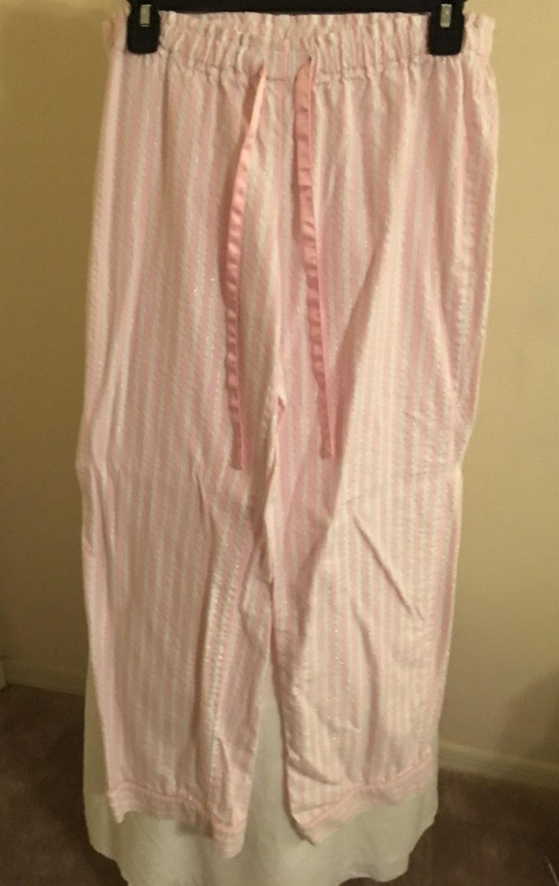 Vintage Victoria/'s secret pajama set pink /& white stripes size SP