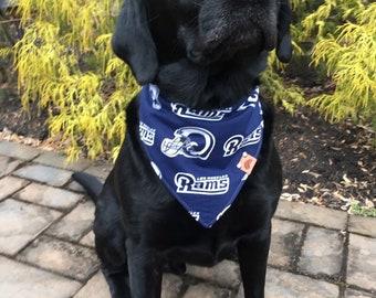 acc20484587 Los angeles rams Dog bandana Los Angeles dog gift monogrammed dog bandana  dog clothing bandana rams dog bandana dog Los Angeles rams bib