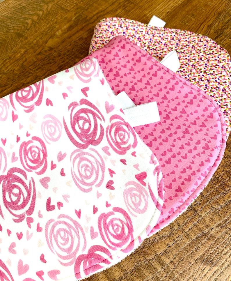 New mom gift organic Burp Cloth valentine baby organic baby gift girl Burp Cloth Bamboo Burp Cloths Baby shower gift spring burp cloth