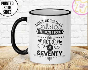70th Mug Birthday Gift Idea 1947 70 Years Old Funny