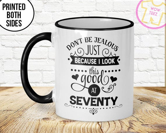70th Mug Birthday Gift Idea
