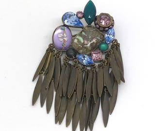 Vintage Dangling Brooch