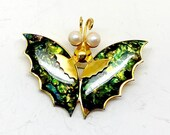 Vintage Figural Abalone MOP (Or something like it, might be imitation) Butterfly Brooch