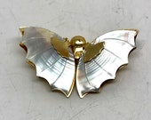 Vintage Abalone Mother of Pearl Butterfly PIn