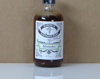 Absinthe Syrup 8 Oz Size, Handcrafted organic Absinthe drink syrup, homemade absinthe syrup, herbal drink syrup, absinthe cocktail syrup
