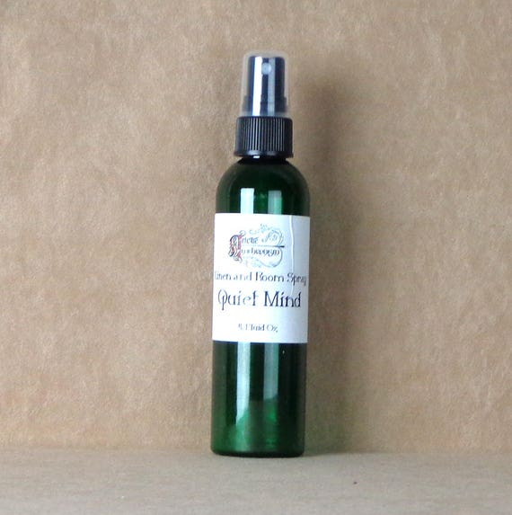 Quiet Mind air and linen spray, essential oil room spray, relaxation spray, aromatherapy spray, natural mist for calming, calming spray