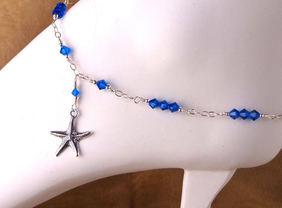 Personalized Anklet, sterling anklet with choice of charm, lucky bridal anklet with personal good luck charm, you choose charm anklet