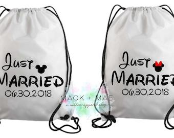 Wedding Gift Wedding Book Bag Gift Married Customized Book Bags Drawstring Backpack Back packs Wedding BackPacks Bookbags