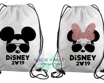 e9cff19e0d6 DISNEY 2019 Minnie Mickey Drawstring Bag