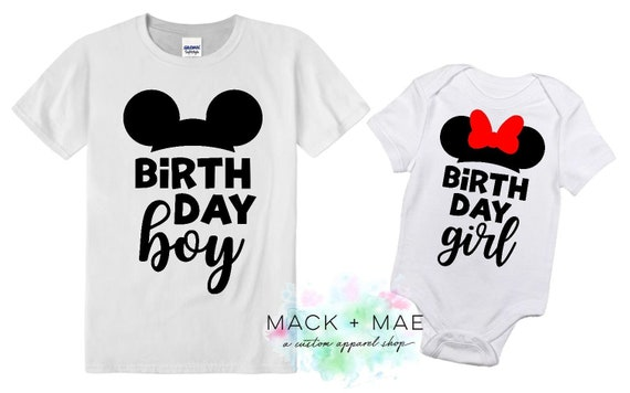Disney World Birthday Shirt Girl Boy Mickey Or