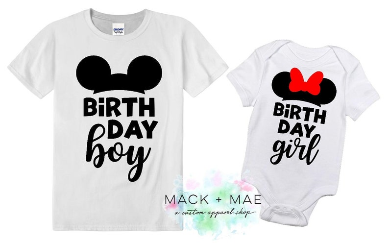 Disney World Birthday Shirt Girl Boy Mickey Or