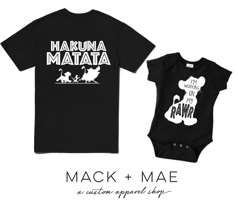 5b7deee9 Lion King Shirts, Animal Kingdom, Disney World Matching Family Tops,Hakuna  Matata, Men's Women's Kids Tops, Working On My RAWR!