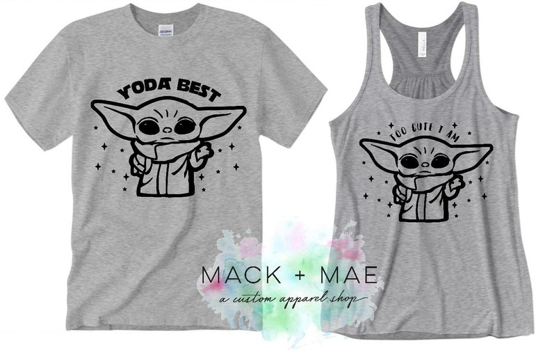 Youre The OBI Wan for Me Yoda Only One I Love Womens T Shirt /& Baby T Shirt Matching Mother Baby Gift Set