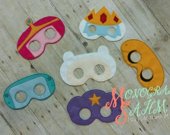 Adventure Time Inspired Masks - Jake, Finn, LSP, BMO, Ice King, Princess Bubblegum