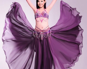 603304cafd95 Chiffon skirt-detachable removable chiffon skirt-professional belly dance  costume long full skirt-Burlesque Skirt-Dancewear-360 full circle