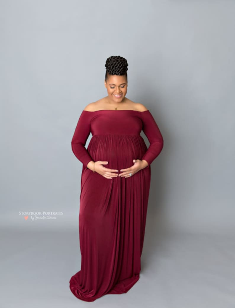 2dde7a87131 Plus size maternity dress Maternity gown for photo