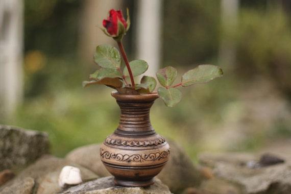 Ceramic Vase Flower Vase Rustic Vase Pottery Vase Handmade Etsy