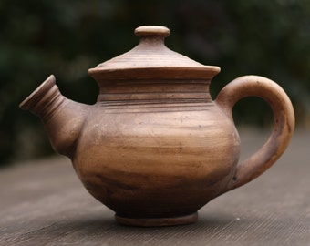 Rustic teapot gift|for|parents Earthy tea pot Pottery teapot Ceramic teapot Christmas gift Xmas gift Gift for mom Mother gift Anniversary