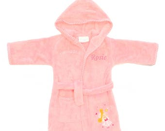 Girl s Personalised Dressing Gown 3-4yrs- Pink Princess  e5859de03